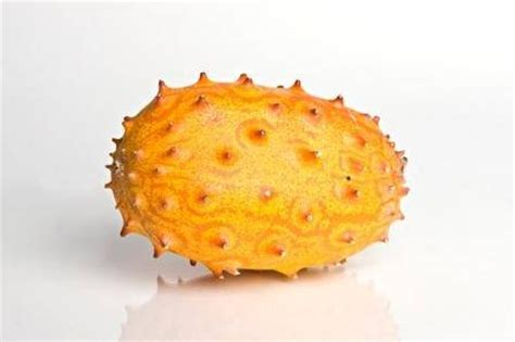 fruit with spikes kiwano also known as the horned mellon this is an
