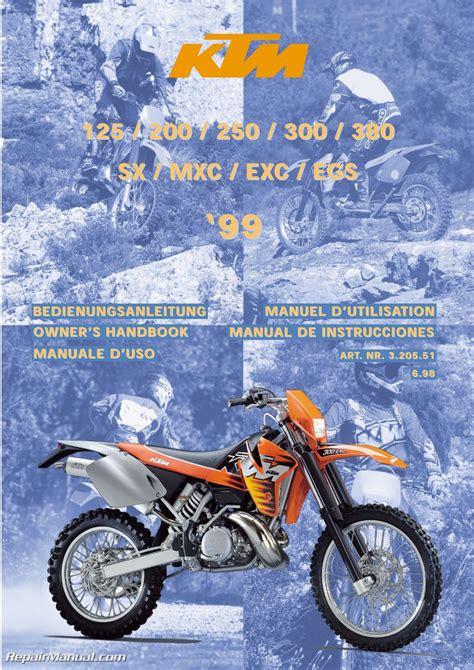 Ktm 200 Service Manual 1999 Ktm 125 200 250 300 380 Sx Mxc Exc Egs Motorcycle