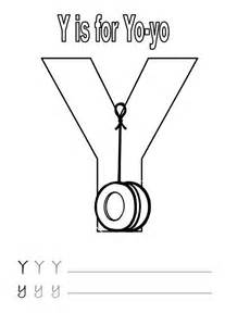 Letter Y Is For Yo Worksheet Coloring Page  Bulk Color sketch template