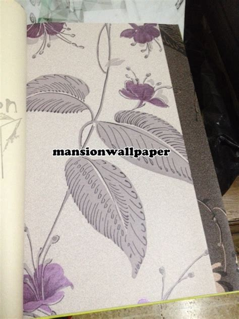 Wallpaper Dinding Bunga Ungu 1 jual wallpaper dinding bunga lili ungu mansion wallpaper