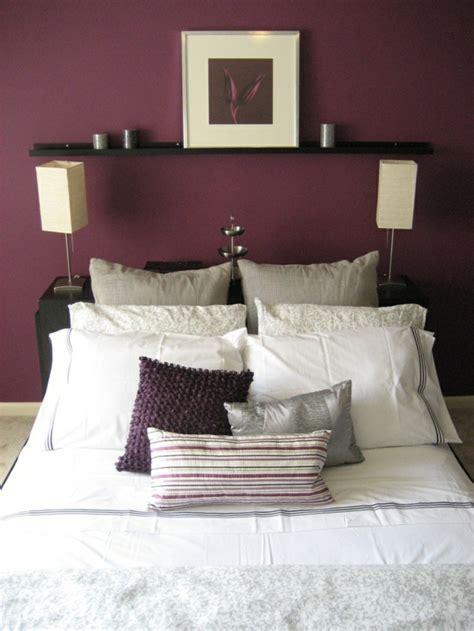 couleurs des murs pour chambre la couleur bordeaux un accent dans l int 233 rieur contemporain