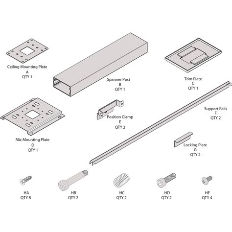 Clearone Ceiling Mic by Clearone Ceiling Mount Kit With 24 Quot Suspension 91000100524b