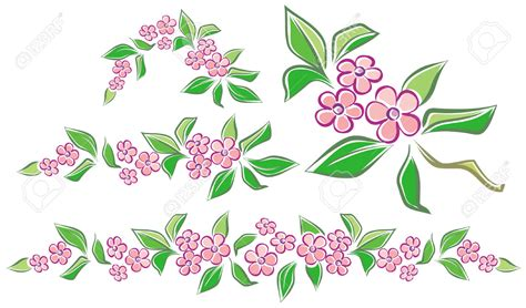 clipart fiori pink flower clipart flower garland pencil and in color
