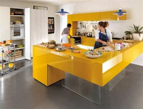 modern yellow kitchen yellow kitchen colors 22 bright modern kitchen design and
