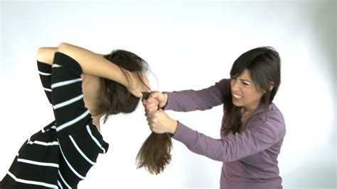 pulling hair fighting friend angry stock footage 3825785