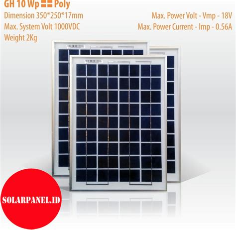 Solar Panel Panel Surya Cell Sseries 10wp 10 Wp 12volt Dc Poly jual solar panel gh 10 wp poly distributor panel surya solar panel pju solarpanel id