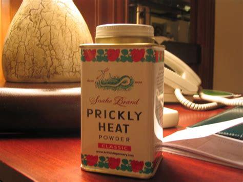 Bedak Prickly Heat rice powder secret cosmetics grooming