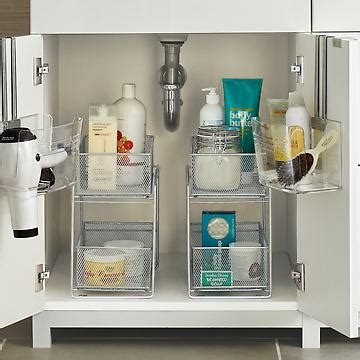bathroom under cabinet organizers bathroom storage bath organization bathroom organizer ideas the container store