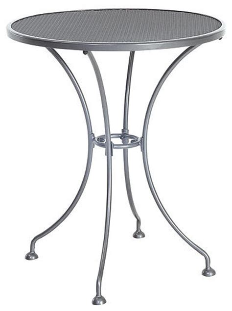 Small Outdoor Bistro Table Steel Mesh Small Bistro Table 24 Quot Contemporary Outdoor Pub And Bistro Tables By Sunvilla Home