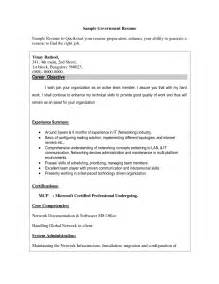 Resume Template Australian Government by Free Resume Sles For Government Personal Statement