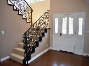 Wrought iron railing for stairs stair models the beautiful
