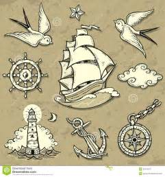 sailor set stock vector image 45372677