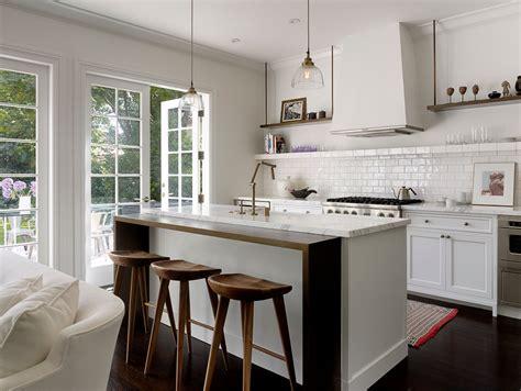 island counter traditional kitchen san francisco counter stool kitchen transitional with floating shelf