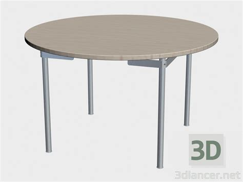 3d dining table 3d model dining table ch388 manufacturer carl hansen id 18466
