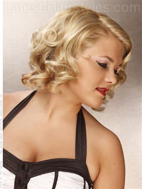 medium vintage haircuts vintage curly hairstyles