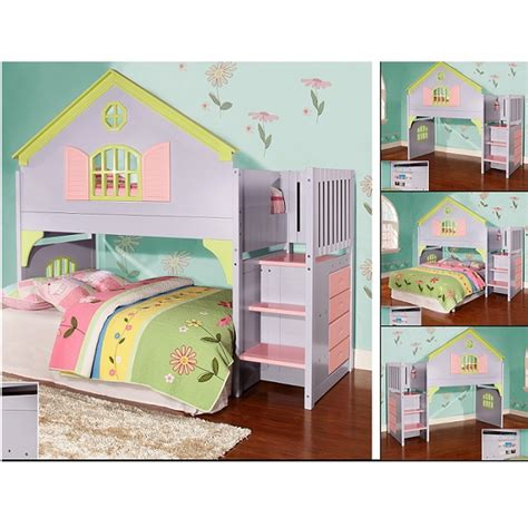 doll house bedroom stair step dollhouse loft bed doll house bed