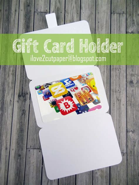 My Vue Gift Card - i love 2 cut paper cassette gift card holder and free donut file
