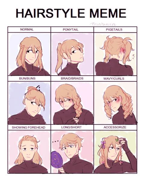 Hairstyle Meme - tomorrow i ll regret this tumblr