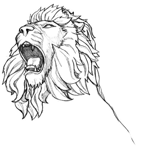 lion tattoo sketch inkspired musings roaring like a graphic design