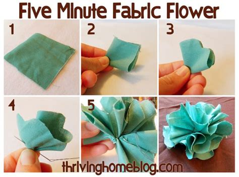 How To Make A Simple Flower Out Of Paper - 25 best ideas about easy fabric flowers on