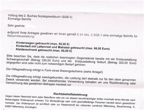 Antrag Vorlage Baby Erstausstattung Erstausstattung Schwangerschaft Antwort Arge Erwerbslosen Forum Deutschland Elo Forum