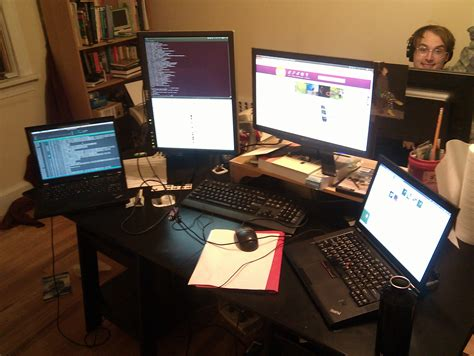 Gaming Desk Setup Ideas How Can Dual Screen Increase Productivity Of A Computer
