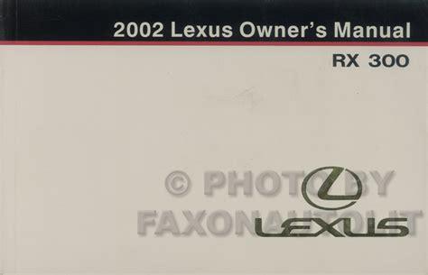 where to buy car manuals 2002 lexus rx head up display 1998 2002 lexus rx 300 body collision repair shop manual original