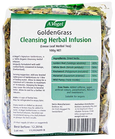 When To Stop Iv Fluids In A Detox Pt by Goldengrass Cleansing Herbal Infusion A Vogel