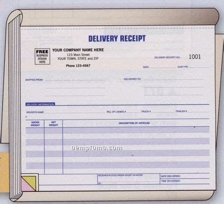 delivery receipt book (3 part),china wholesale delivery