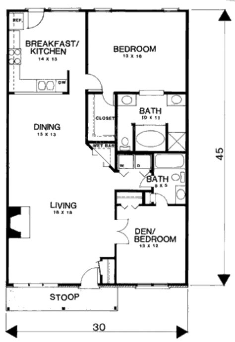 average square footage of a 3 bedroom house country style house plan 3 beds 2 baths 1350 sq ft plan