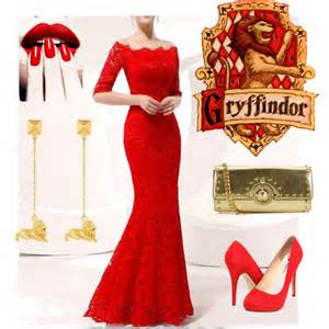 gryffindor yule ball polyvore