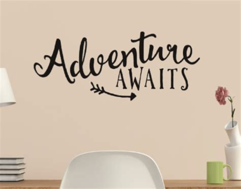 Sticker Wallpaper Dinding Welcome Friends Adventure Awaits With Arrow Vinyl Wall Quote Sticker Wall