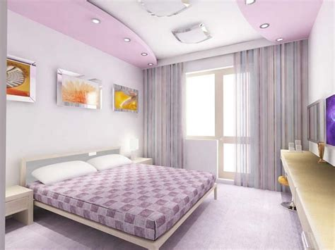 charming pop design for bedroom interior decorating ideas in soft purple color fnw