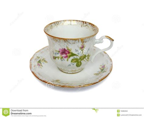 Cup On The Plate a tea cup with a plate stock images image 19285294