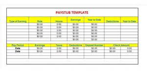 Paycheck Stub Template Free by 29 Great Pay Slip Paycheck Stub Templates Free