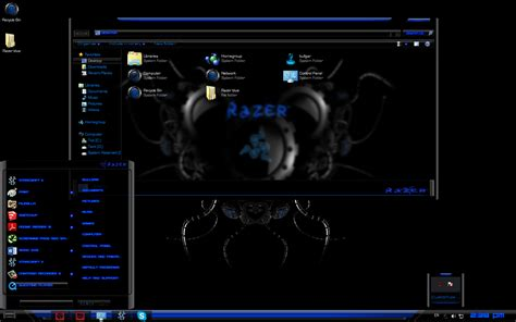 themes for windows 7 blue razer blue custom windows 7 theme