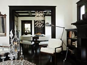 Rooms Painted Black Dark Wood Moldings Eclectic Living Room Jessica