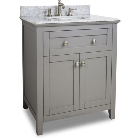30 Bathroom Sink Cabinet Jeffrey Van102 30 T Grey Chatham Shaker