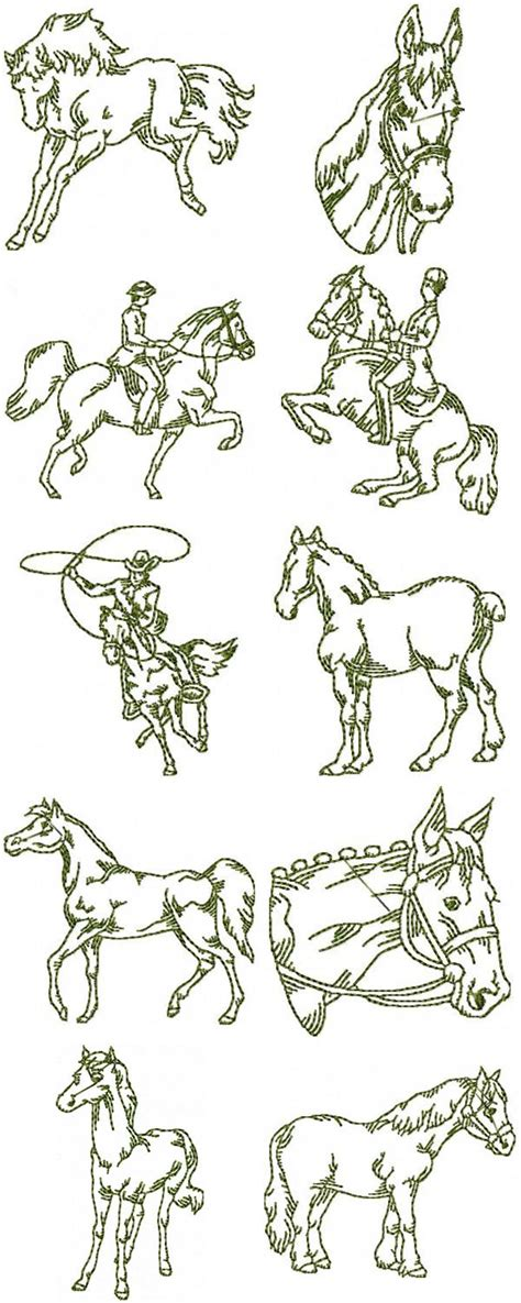 embroidery design horse free horse embroidery patterns 171 free patterns