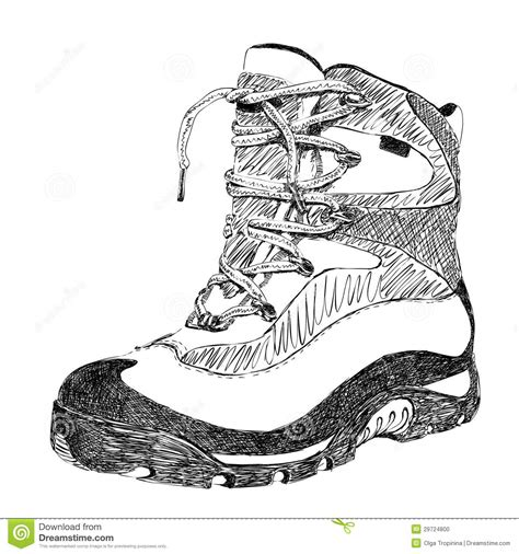 doodle boot c hiking boot stock photo image 29724800