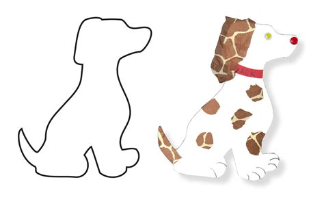 How To Make A Puppy Out Of Paper - cut out paper cut out hygloss products