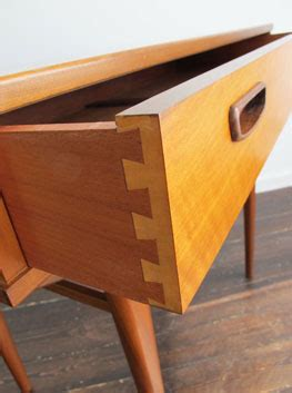 walnut console table by alfred cox uk