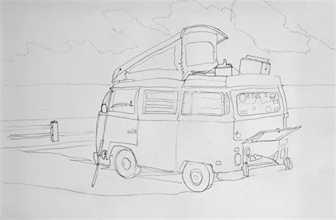 volkswagen drawing vw sketch imgkid com the image kid has it