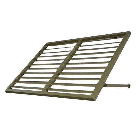 metal awnings home depot beauty mark awntech s 3 ft bahama metal shutter awnings