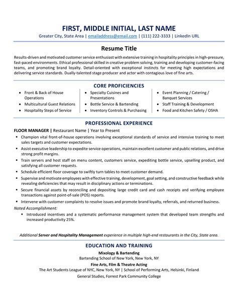 Usa Resume Format