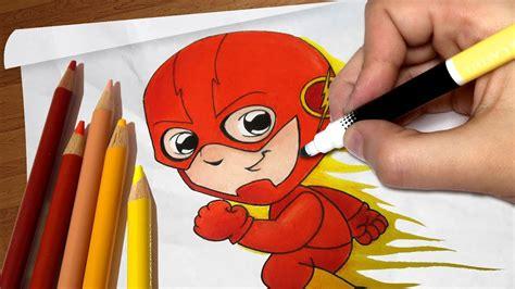 desenho cartoon como desenhar o flash chibi passo a passo
