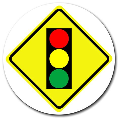 Basics Ahead by Stoplight Ahead Basic Yellow Caution Sign Mouse Pad