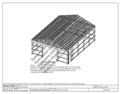 Free Pole Shed Plans by Barn Blueprints Freeshed Plans Shed Plans