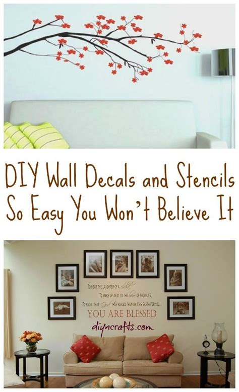 how to stick something to a wall diy wall decals and stencils so easy you won t believe it