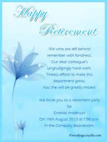invitation card matter for retirement in retirement invitation wording which viral in 2017